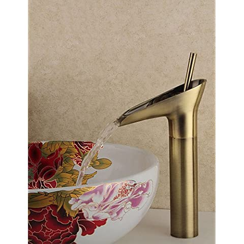 XMQC*Stile Winebowl in ottone antico caldo / freddo rubinetto - Bronzo
