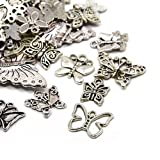 30g x Tibetan Silver Mixed Charms Pendants - Antique Silver BUTTERFLIES HA06700