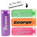 Personalised Stickers For Water Bottles Custom Name Lettering Drinks Bottle Sticker