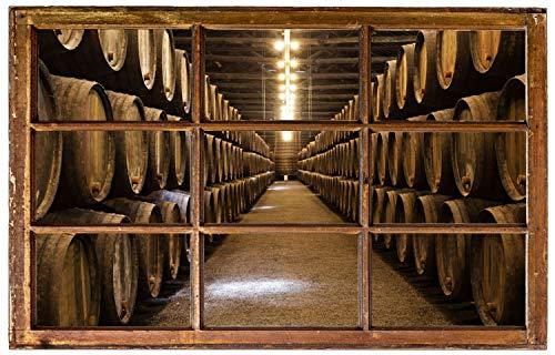 Preisvergleich Produktbild Fass Whisky Fasslagerung Wandtattoo Wandsticker Wandaufkleber H0842 Größe 60 cm x 90 cm