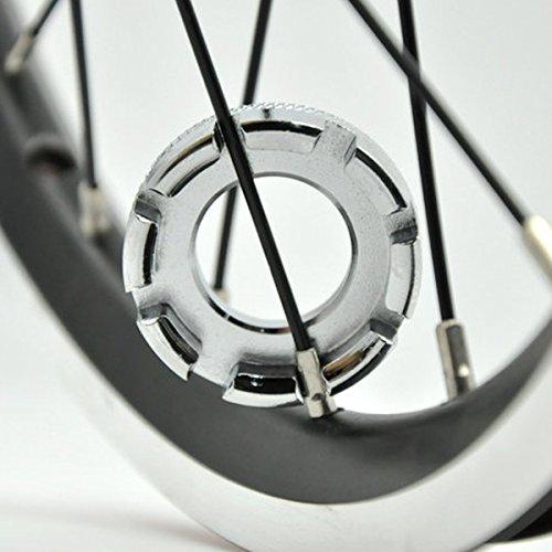 Sungpunet Llave de radios de rueda de bicicleta universal mini 8 vías herramienta de reparación de llave ing