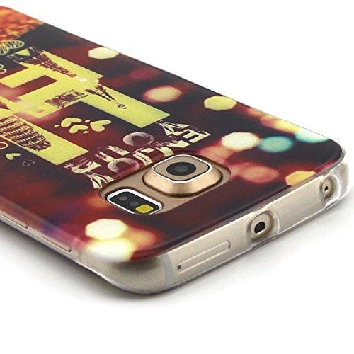 iPhone 4 Silicone Case,iPhone 4S Coque - Felfy Ultra Slim Soft Gel Flexible TPU Case Cover Coque Housse Beaux Motifs Peint Protection Case Cover Etui (Renard Mignon) + 1 x Noir Stylus + 1 x Screen Pro Tour Eiffel
