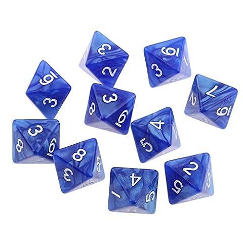 Gazechimp 10 Pcs Würfeln Polyedrische Dice Würfel Multi-seitig Würfeln für Dungeons und Dragons Tischspiele -