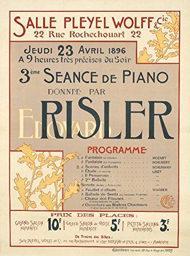 Edouard Risler Vintage Poster (Künstler: Chris) Frankreich c. 1896, Papier, multi, 24 x 36 Giclee Print - 1896 Vintage-print