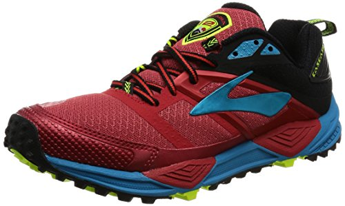 Brooks Cascadia 12, Zapatillas de Running para Asfalto para Hombre, Multicolor (Highriskred/Black/Vividblue), 44.5 EU