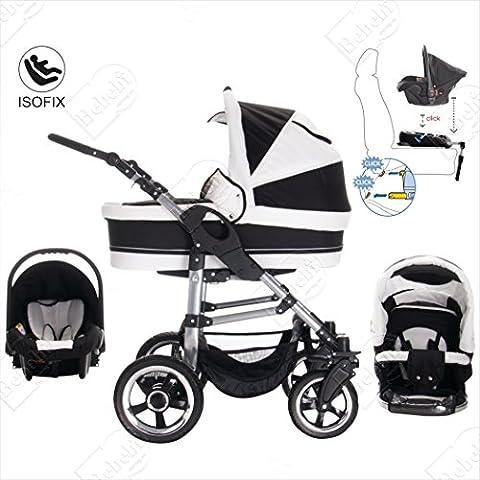 bebebi | modello London | & Base Isofix Seggiolino Auto | 3in 1passeggino set | pneumatici