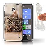 Stuff4 Coque Gel TPU de Coque pour Nokia Lumia 635 / Chat Tigré Design/Races...