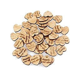 DescriptionThis item is a pack of 50pcs wood slices. The front side of natural wooden discs is sculpturing Happily ever after and its back side is surrounded with bark. It is ideal for card making, embellishments, scrap booking, decoupage, si...