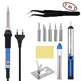 LOETAD Saldatore 7-in-1, Kit di saldatura con accessori per piccoli elettrodomestici, telefoni cellulari e componenti per PC