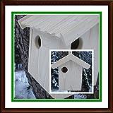 Eichhörnchen-Haus -XXXL-Eichhörnchenhaus-Futterautomat-Futterhaus-Nistkasten-Kobel-Holzschindeldach-Vogelhaus