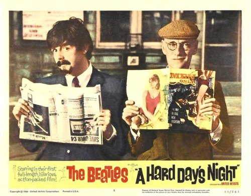 Price comparison product image A Hard Day's Night Poster Movie M 11 x 14 In - 28cm x 36cm Beatles John Lennon Paul McCartney George Harrison Ringo Starr Wilfrid Brambell