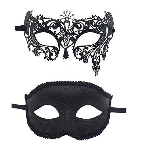Zurückhaltung Maske Kostüm - JUNSHUO 2PCS Paar Maske,Herren und Damen
