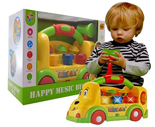 allkindathings bt870770Jungen und Mädchen Geistiges Musical WACA Maulwurf Learning Schule Bus Baby Spielzeug (Musical-bus Spielzeug)