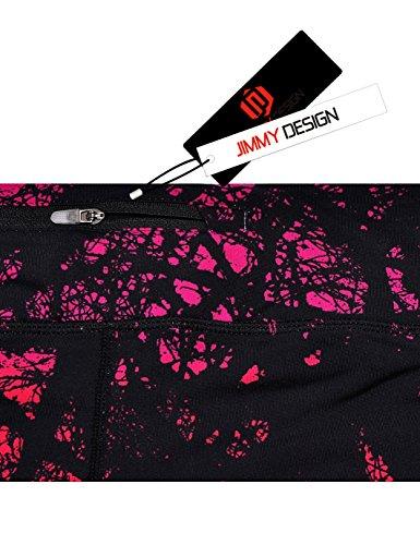 JIMMY DESIGN Damen Printed Sporthose Leggins – Funk Kunst - 4