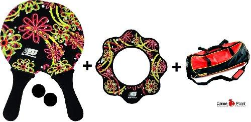 """Beach Fun-Set """"Girls"""": Beachball-Set, Flying Disc + coole Sporttasche Bandito"""