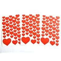 Red Heart Stickers - Kids / Childrens Labels for party bags , scrap books , card making or notebook decoration