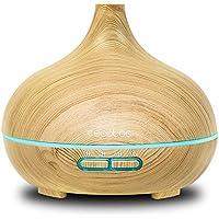 Cecotec Pure Aroma 300 Yang. Humidificador ultrasónico y difusor de Aroma 300 ml. Temporizador hasta 10 Horas. 7 Colores led. Función aromaterapia. Ultrasilencioso.