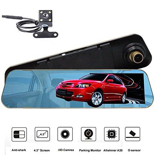 Spiegel-reverse-kamera Für Auto (Faltbar HD Display in-Dash Rückansicht Rückblickmonitor Auto Reverse LCD Rückspiegel Monitor Video Player für Rückfahrkamera Parken-System (Dashcam))