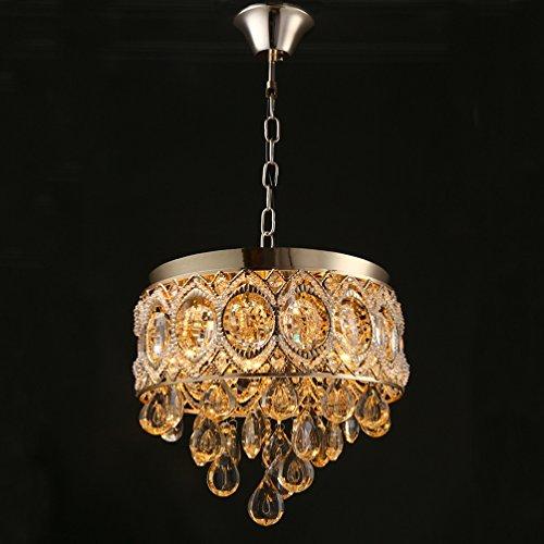 Hängelampe Kristall Ø30cm Kristallleuchter Französisch Romantik Gold Exquisite Hängeleuchte Schöner Mini stil Lampen Hingucker Esszimmer Leichter Luxus Nachtlicht Drop Crystal Anhänger Antik-klaren (Kunststoff-drop-decke)