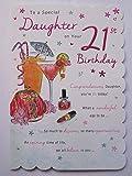 STUNNING TOP RANGE BEAUTIFULLY WORDED DAUGHTER TWENTY ONE 21ST BIRTHDAY CARD