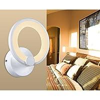 8010WJ lampada da soffitto a LED con telecomando luce/paralume in acrilico bianco regolabile telaio in metallo verniciato colore fiore Design 6067-1fl 19*19*10cm  LED 9W  warmweiß 3100k