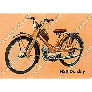 NSU Quickly Moped Poster Plakat Bild Kunstdruck