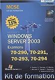Image de Coffret 4 volumes MCSE Windows Server 2003 (Examens 70-290, 70-291, 70-293, 70-294)