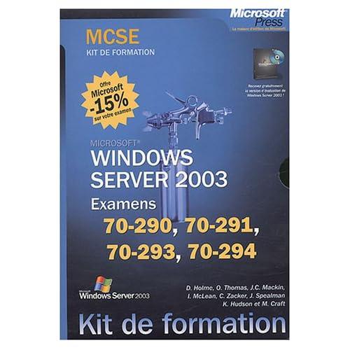 Coffret 4 volumes MCSE Windows Server 2003 (Examens 70-290, 70-291, 70-293, 70-294)