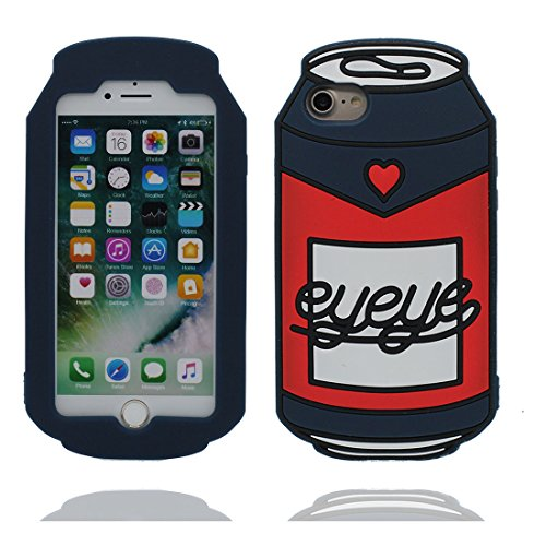 """Hülle für iPhone 7 (4.7""""), [ TPU materielles flexibles stilvolles die flasche Cans ] elegant Handyhülle für iPhone 7 (4.7""""), Staub-Beleg-Kratzer beständig, haltbare weiche soft case Farbe 1"""