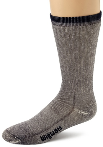 WIGWAM MERINO COMODIDAD CALCETINES DE EXCURSIONISTA  UNISEX  COLOR AZUL MARINO  TAMAÑO MEDIUM/SIZE UK 5   8