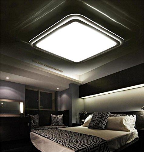 moda salone rettangolare camera da letto soffitto lampada a LED minimalista sottile Dimming soffitto tre temperatura di colore Elegante ( dimensioni : 64*64*13 )