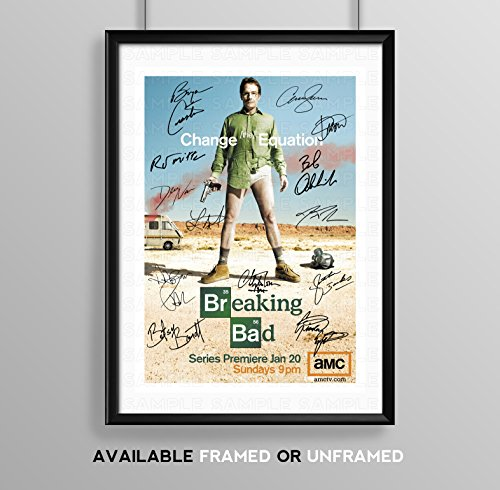 Used, Breaking Bad Full Cast Signed Autograph Signature A4 for sale  Delivered anywhere in UK