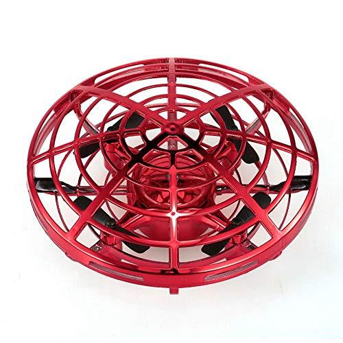 KOBWA Mini Drones para Niños UFO Drone Recargable Mini Quadcopter Movimiento Control Mano Drone Flying Toys con Led Light Beginner RC Helicóptero Regalos para Niños Niños Adultos
