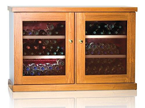 Ip Industrie - Cantinetta climatizzata legno massello 2 porte in vetro 2 celle capienza complessiva di 100 bottiglie