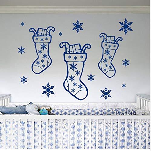 WFYY Frohe Weihnachten Geschenk Hause Socken Wandbild Kindergarten Schlafzimmer Dekoration Vinyl Wandaufkleber 56X76 cm (Halloween Affe Socke)