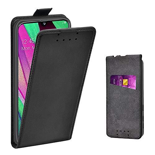 Adicase Galaxy A40 Hülle Leder Tasche für Samsung Galaxy A40 Handyhülle Flip Case Schut