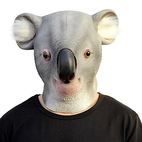 OULII Koala Tiermaske Latex Maske für Halloween Kostüm Party Erwachsen Masken