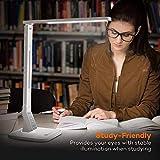 Schreibtischlampe LED TaoTronics Dimmbare Lampe mit 4 Farbmodi 5 Helligkeitsstufen (5V/1A USB-Ladeanschluss, 140 Grad Drehbarer Arm, 1-Stündiger Auto-Off Timer, Touchsteuerung, Memory-Funktion) für Schreibtischlampe LED TaoTronics Dimmbare Lampe mit 4 Farbmodi 5 Helligkeitsstufen (5V/1A USB-Ladeanschluss, 140 Grad Drehbarer Arm, 1-Stündiger Auto-Off Timer, Touchsteuerung, Memory-Funktion)