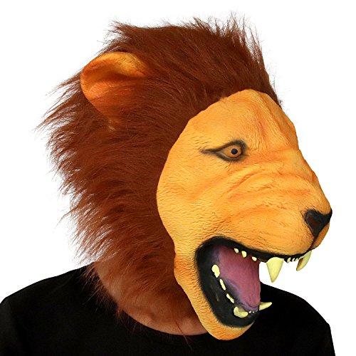 Wilde Löwen Maske, Halloween Lion Gesichtsmaske, Neuheit Deluxe Kostüm Party Latex Tierkopf Maske für Erwachsene (Die Bedeutung Von Halloween Kostüme)