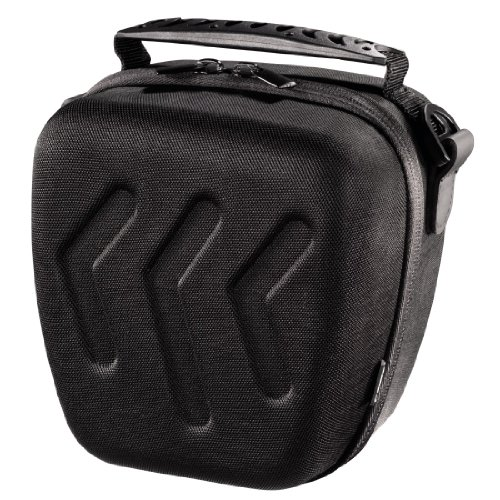Hama Hardcase Kameratasche für eine kompakte Systemkamera/Spiegelreflexkamera, Hardcase Arrow 110 Colt, Schwarz