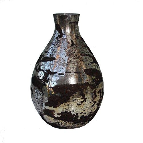 Maharanis mundgeblasene Glas Vase goldmetallic braun