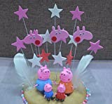 Peppa Pig Family Construction Figure Pack Set of 4 Figures and a Set of Stars