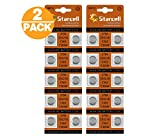 Act 20 Alkaline Knopfzellen ohne Quecksilber AG0/LR63/LR521/379 (1,5 Volt, 10er Pack)