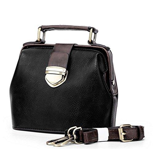 Xinmaoyuan Borse donna moda rétro sacchetto femmina Mini borsa a tracolla Nero