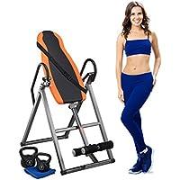 Relaxdays Tabla Inversora para Espalda con 3 Posiciones, Negro y Naranja, 65 x 140 cm