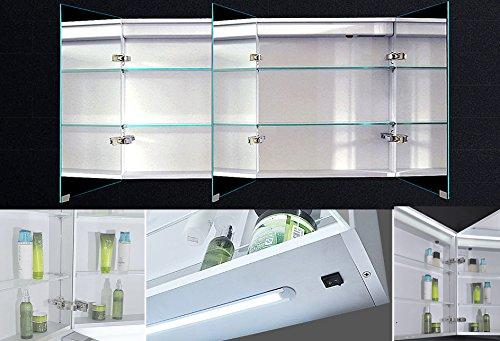 Lux-aqua Badezimmerspiegelschrank – 140 cm - 3