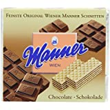 Manner Chocolate Wafers 75 g (Pack of 12)