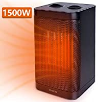 AYOUYA Portable Electric Heater, Fan heater Personal Space Heater Electric Heater With Over-heat & Tip-over Protection 3 Modes Fast Heating, Suit for Home and Office