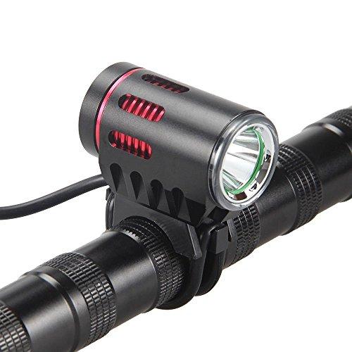 2000 Lumen CREE XM-L2 LED MTB LED Fahrradbeleuchtung set, Bukm LED Fahrradlampe Fahrradlicht Sport Frontlicht und Rücklicht für Radfahren, Camping und täglichen Gebrauch, Wasserdicht