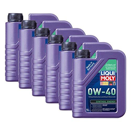 Preisvergleich Produktbild 6x LIQUI MOLY 1360 Synthoil Energy 0W-40 Motoröl Vollsynthetisch 1L